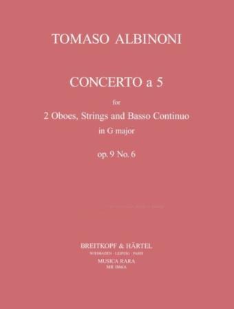 CONCERTO  A CINQUE Op.9 No.6 in G major