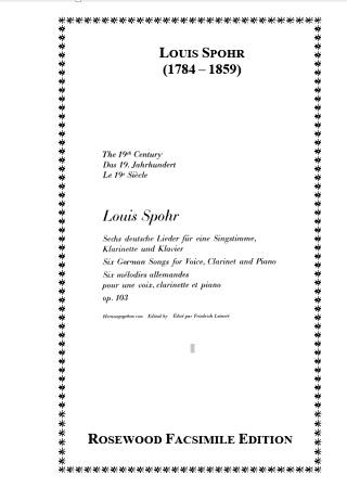 SECHS LIEDER Op.103