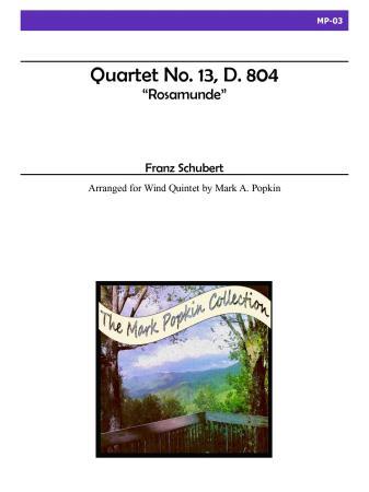 QUARTET in A minor, Op.29, No.13, D. 804 'Rosamunde'