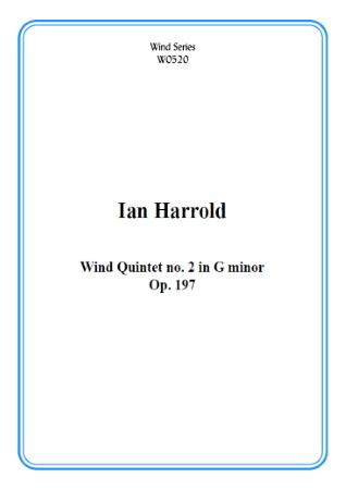 WIND QUINTET No.2 in G minor (score & parts)