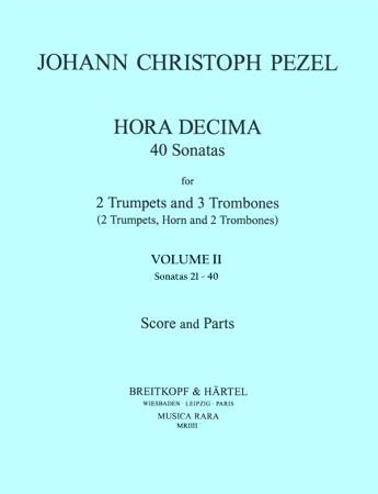 HORA DECIMA 40 Sonatas Volume 2 (score & parts)