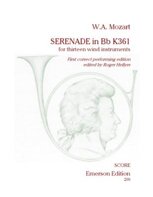 SERENADE No.10 K361 (Urtext) score & parts
