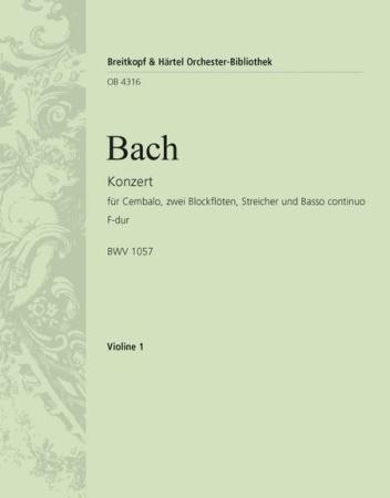 HARPSICHORD CONCERTO in F BWV1057 1st violin