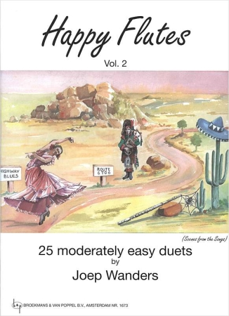 HAPPY FLUTES Volume 2 25 moderately easy duets