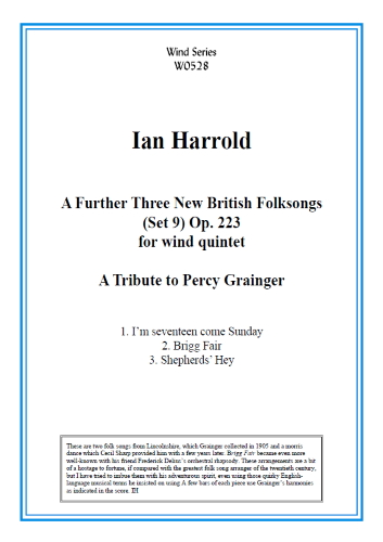 A FURTHER THREE NEW BRITISH FOLKSONGS Op.223 (score & parts)
