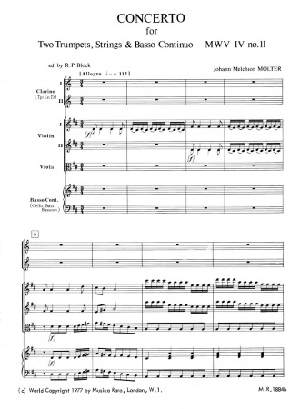 CONCERTO in D major, MWV IV/11 (score & parts)