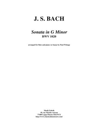 SONATA in G Minor BWV1020