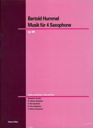 MUSIK FUR SAXOPHONE Op.88f