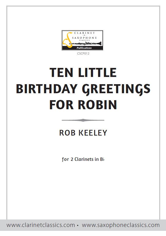 TEN LITTLE BIRTHDAY GREETINGS FOR ROBIN