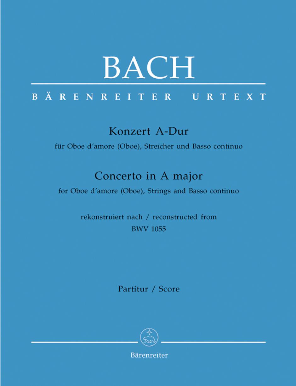 CONCERTO in A Major BWV1055 Cembalo/Basso Continuo