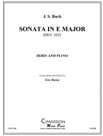 SONATA in E Major, BWV 1035