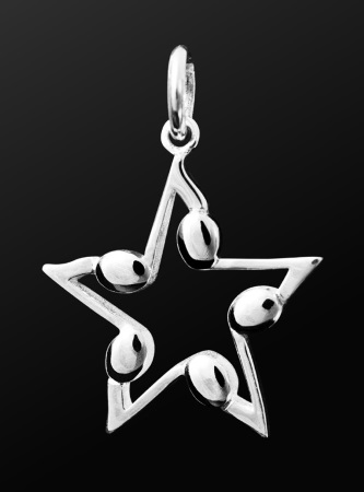 STERLING SILVER PENDANT Music of the Night