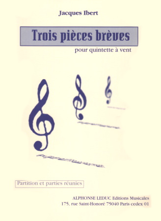 TROIS PIECES BREVES (score & parts)