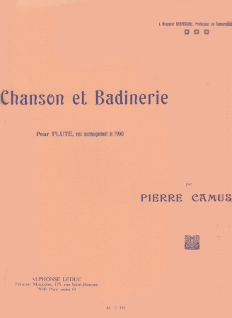 CHANSON ET BADINERIE