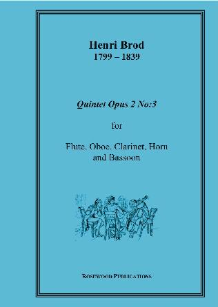 WIND QUINTET Op.2 No.3 (score & parts)