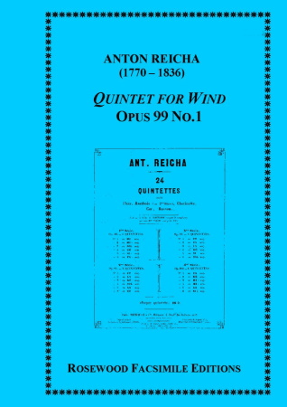 WIND QUINTET Op.99 No.1 (set of parts)