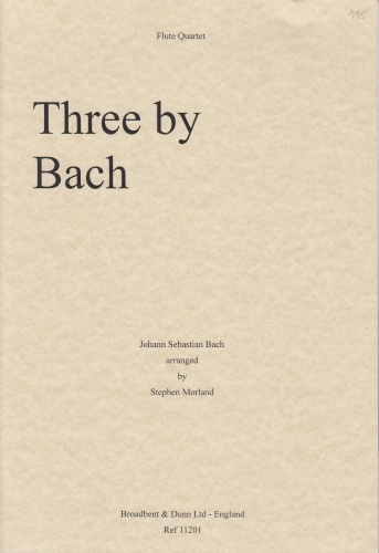 THREE BY BACH (score & parts)