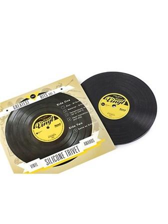 SILICONE TRIVET Vinyl Record Design