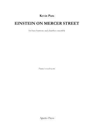 EINSTEIN ON MERCER STREET piano/vocal score