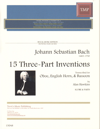 15 THREE-PART INVENTIONS (score & parts)