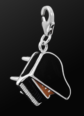 STERLING SILVER CHARM Grand Piano