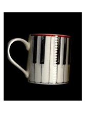 FINE CHINA MUG Piano Keys Design