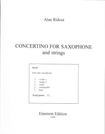 CONCERTINO FOR SAXOPHONE (score)