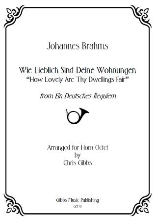 WIE LIEBLICH SIND DEINE WOHNUNGEN (score & parts)