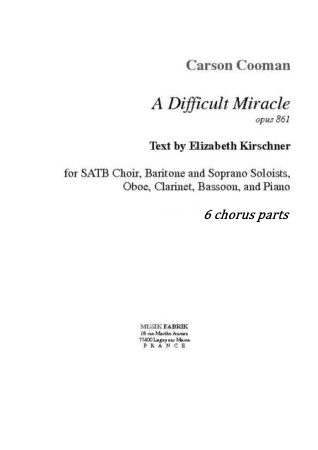 A DIFFICULT MIRACLE 6 chorus parts