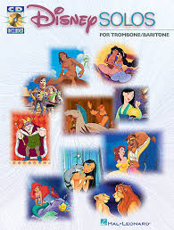 DISNEY SOLOS + Audio Downloads (bass clef)