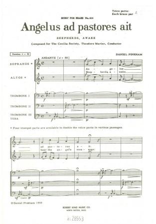 ANGELUS AD PASTORES (vocal score)