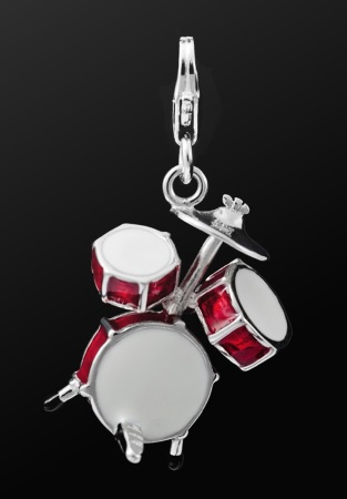 STERLING SILVER CHARM Drum Set