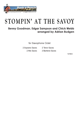 STOMPING AT THE SAVOY (score & parts)