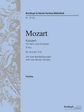 HORN CONCERTO No.1 in D major K. 412/514 (386b) (urtext) Score