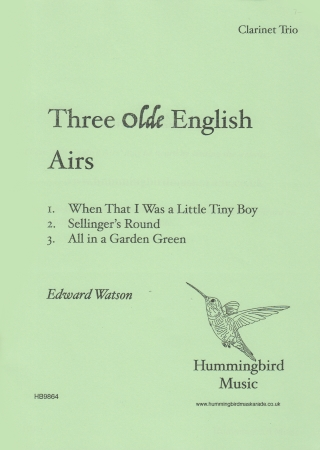 THREE OLDE ENGLISH AIRS (score & parts)