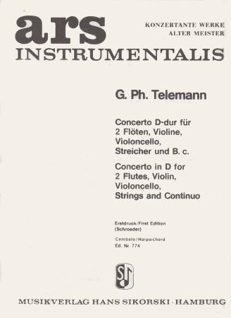 CONCERTO in D harpsichord part
