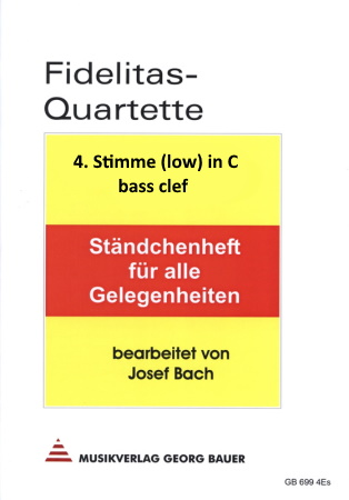 FIDELITAS QUARTETTE Part 4 (low) in C bass clef