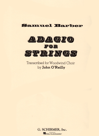ADAGIO FOR STRINGS (score & parts)