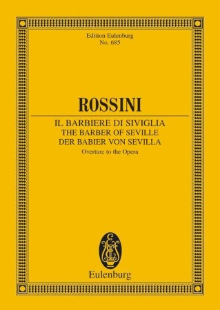 THE BARBER OF SEVILLE Overture (study score)