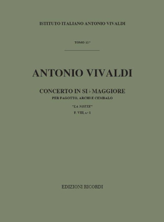CONCERTO in Bb major FVIII/1 'La Notte' (study score)