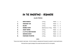 ON THE BANDSTAND Beginners (score & parts + CD)