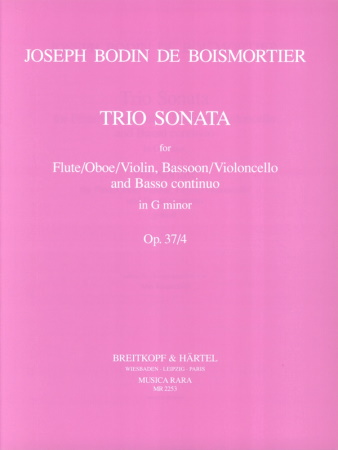 TRIO SONATA in G minor Op.37 No.4