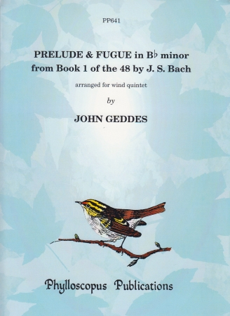 PRELUDE & FUGUE in Bb minor from Book 1 of the 48