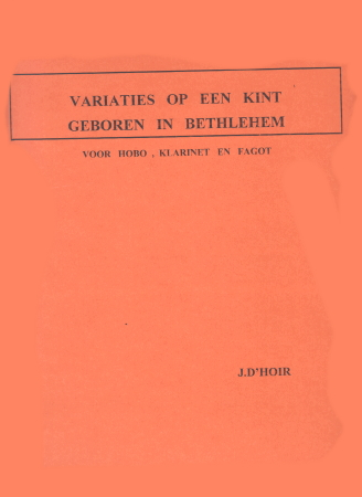 VARIATIONS 'A Child is Born in Bethlehem'