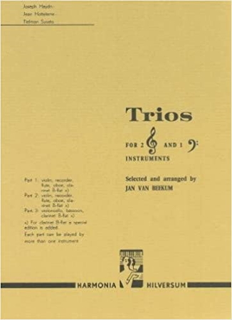 TRIOS for 2 treble & 1 bass instrument