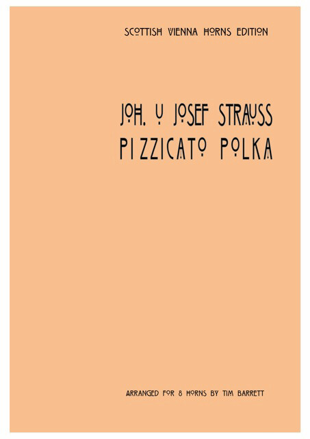 PIZZICATO POLKA score & parts