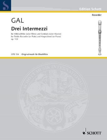 THREE INTERMEZZI Op.103