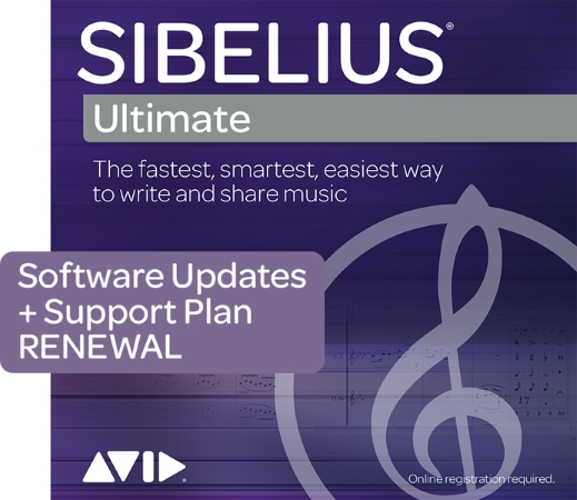 SIBELIUS Ultimate Support Plan Renewal: 1 year of Support and Updates (Digital Delivery)