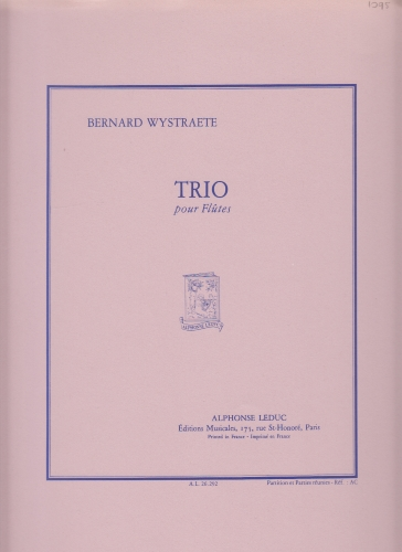 TRIO POUR FLUTES score and parts