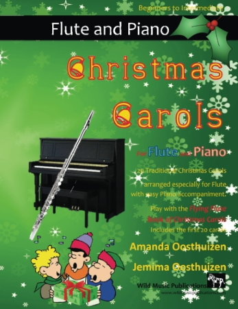 CHRISTMAS CAROLS for Flute & Easy Piano